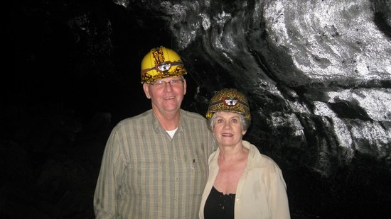 Aloha Crater Lodge:                   In the lava tube