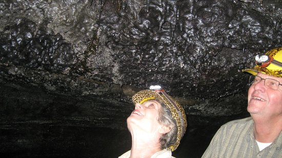 Aloha Crater Lodge:                   The ceiling of the tube