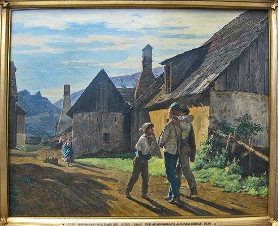 Hamburger Kunsthalle:                   Фердинанд Георг Вальдмюллер. Возвращение с войны. 1859