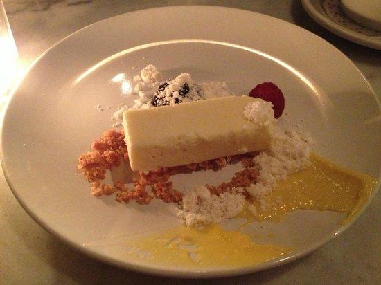Pumpkin :                   Goat milk cheesecake