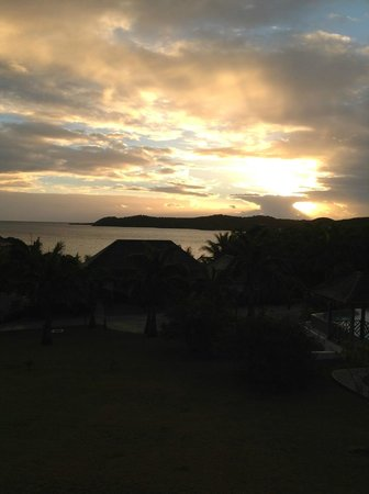 Nonsuch Bay Resort:                   Sunrise on our balcony.