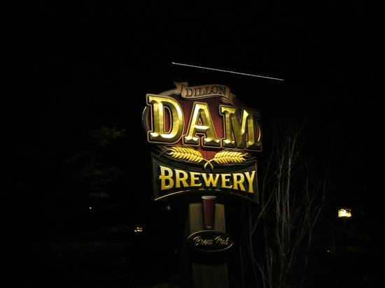 Dillon Dam Brewery: sign