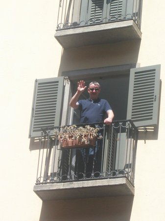 Hotel Agnello d'Oro:                   on the balcony