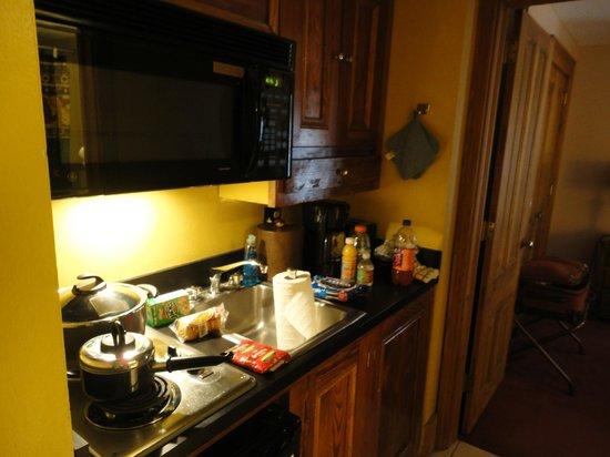 Hotel de la Monnaie:                   kitchenette