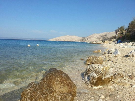 Krk, Chorwacja:                   Stara Baska Beach