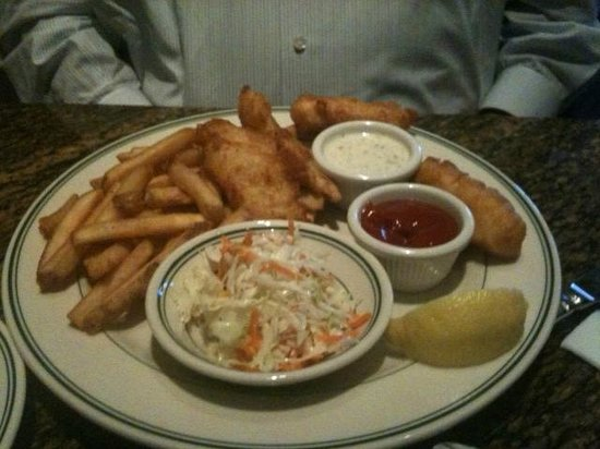 Newport Seafood Grill:                   The Fish and Chips dinner