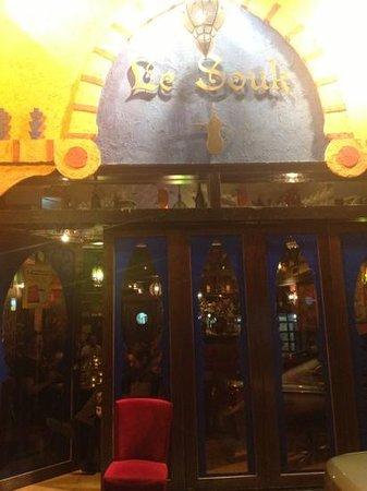 Le Souk:                   The facade of Le Sutra