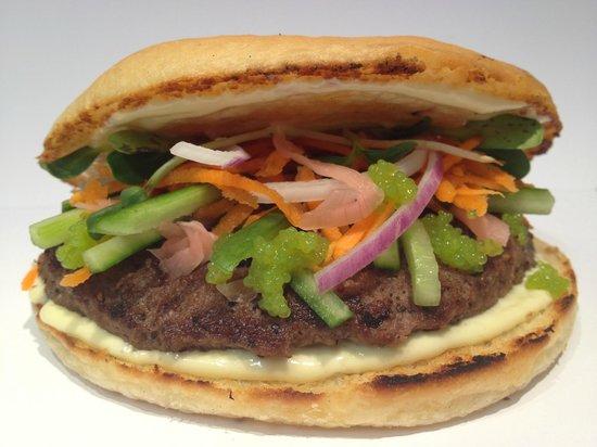 Moaburger: Wasabi Caviar Burger