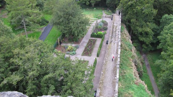Blarney Castle & Gardens:                   View of the Poison Garden from the top.