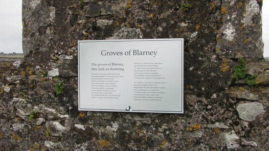 Blarney Castle & Gardens:                   Sign