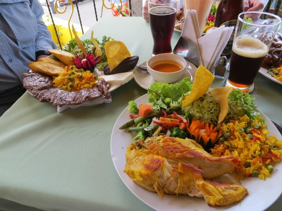 Santiago Atitlan, Guatemala:                   Chicken with all the trimmings
