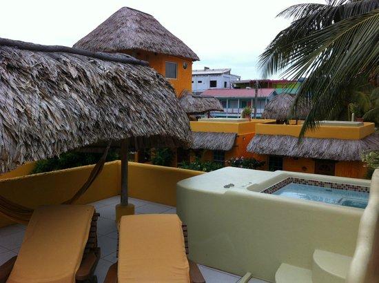 Seaside Cabanas:                   Rooftop deck of Cabana 1