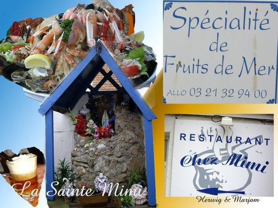Audresselles, Francia:                   Chez Mimi: het terras