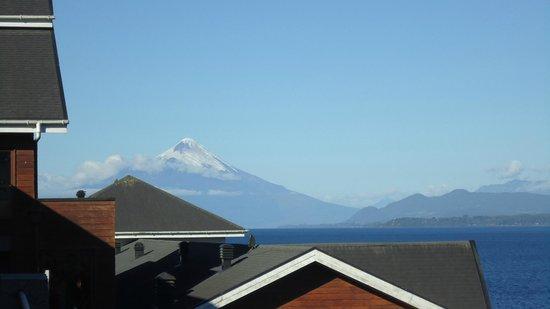 Hotel Cabana del Lago:                   vista do apartamento - Vulcão Osorno