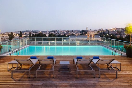 St. George Hotel Jerusalem: Top floor pool