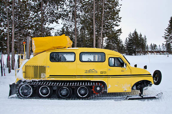 ไวโอมิง:                   Snowcoach Tour Yellowstone National Park