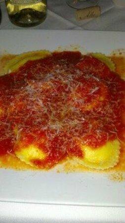Paisano's homemade cheese ravioli