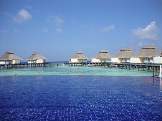 Ellaidhoo Maldives by Cinnamon: Water bungalows taken from by restaurant