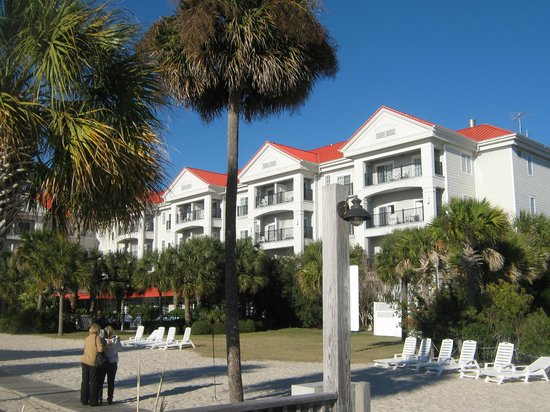 Charleston Harbor Resort & Marina:                   Hotel from private beach