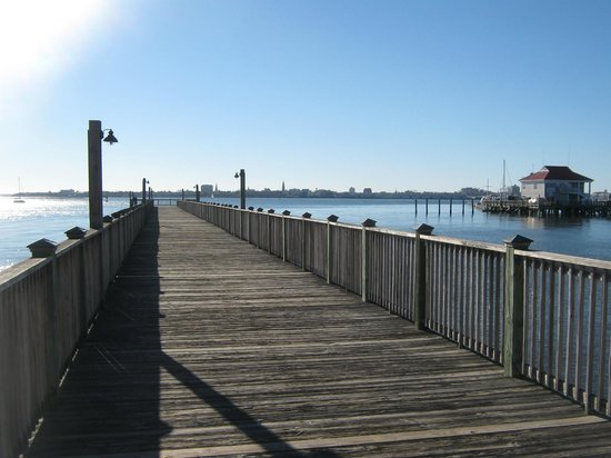 Charleston Harbor Resort & Marina:                   One of the piers