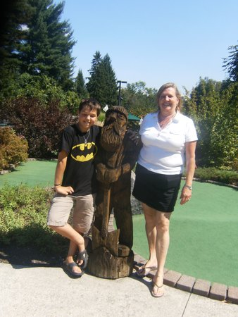 Lumberjack Pass Miniature Golf: Andrei wanted me to have fun with him!