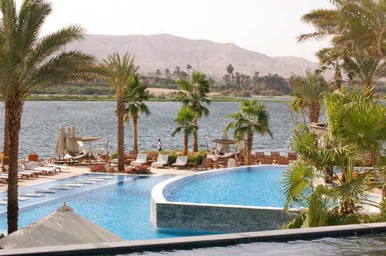 Hilton Luxor Resort & Spa:                   pool and nile river