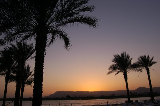 Hilton Luxor Resort & Spa:                   sunset