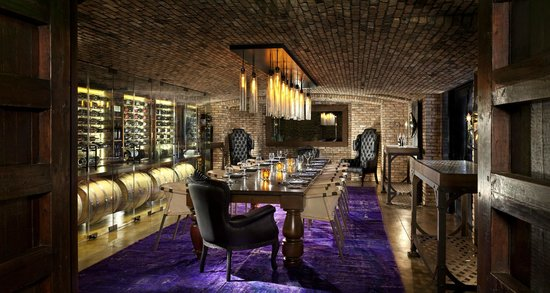 Rancho Valencia: Veladora's private wine room.