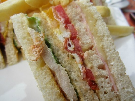 Cafe Cafe: Close-up Of My Chicken Club Sandwich