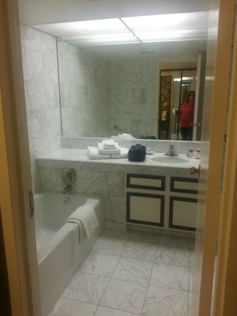 Harveys Lake Tahoe: View into bathroom tub w/ sep. shower