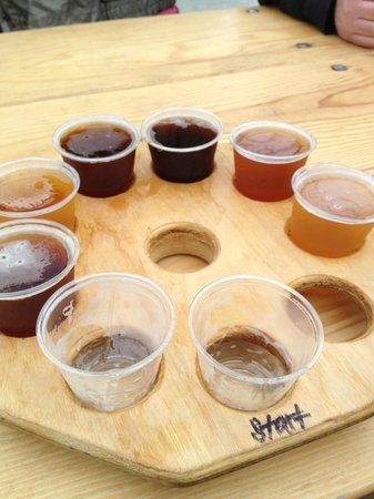 Hangar 24 Craft Brewery:                   Take off with a Flight