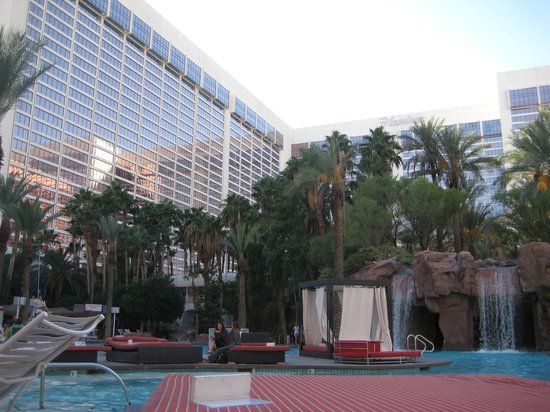Hilton Grand Vacations at the Flamingo :                   view from pool