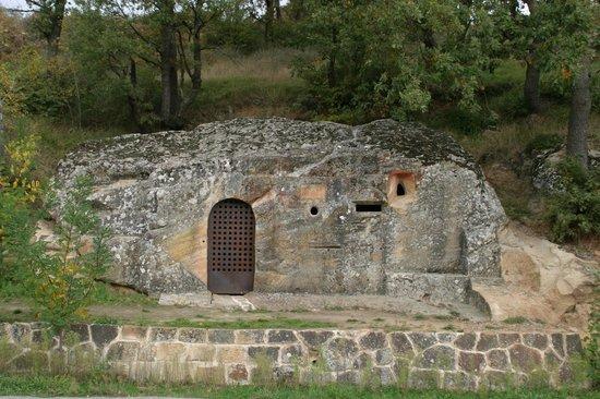 Centro de Turismo Rural La Coruja del Ebro: Cadalso rupestre