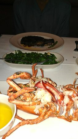 The Capital Grille: Main course w/Sauteed Spinach as a side