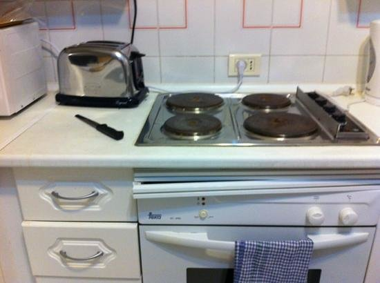 Island Village Apartments:                   oven falling apart and only one socket for appliances