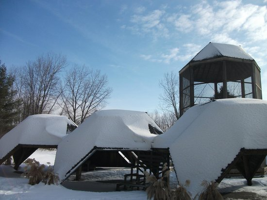 Le Parc des Moulins, en hiver
