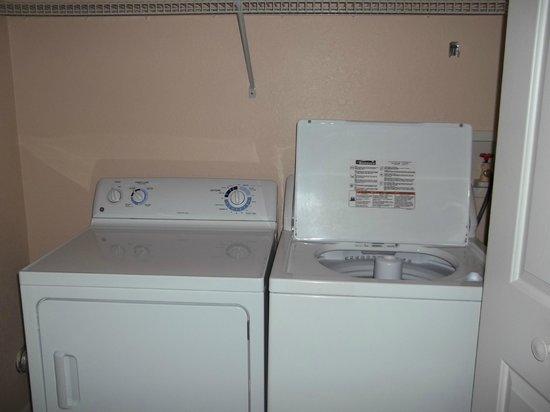 Westgate Vacation Villas:                   Full size washing machine/dryer