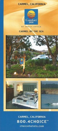 Comfort Inn Carmel By The Sea: Hotel flyer