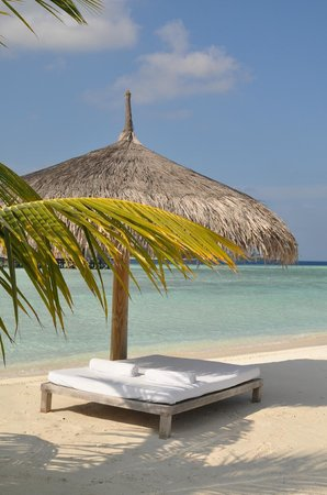 Cocoa Island by COMO: Beach bed !