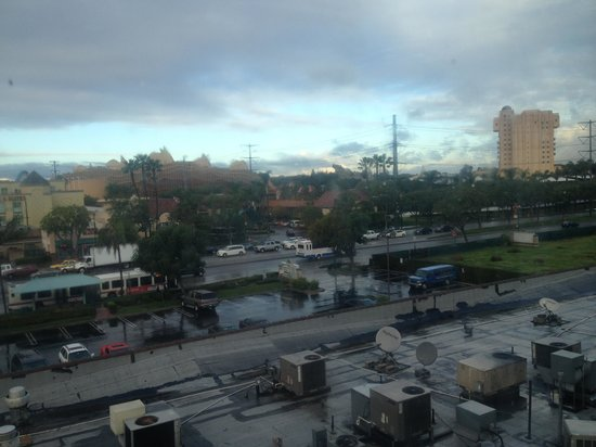 Ramada Plaza Anaheim:                                     Our View of California Adventure from room 426