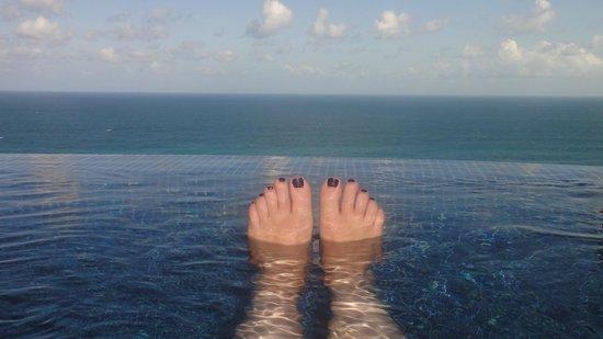 Karma Spa at Karma Kandara:                   Relaxing in the hot tub