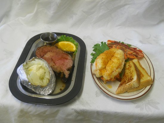 Olney, MT:                   The best prime rib and lobster