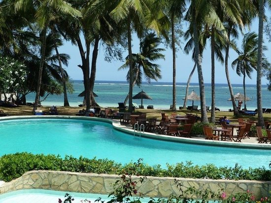 Diani Sea Lodge:                   View from restaurant