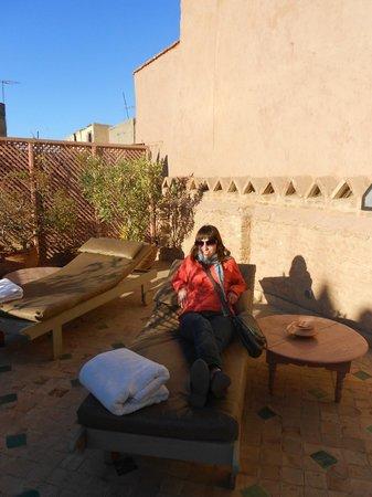 Riad Aladdin:                   terrace