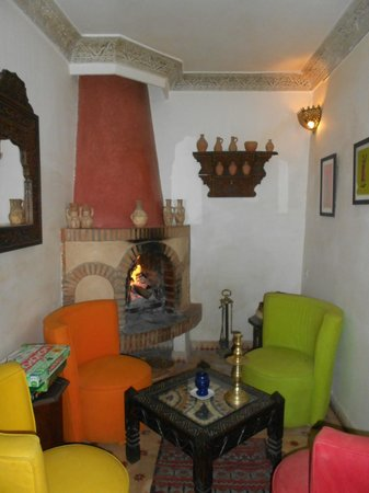 Riad Aladdin:                   fireplace