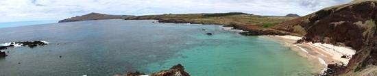 Playa Ovahe: Panorámica de Ovahe, arrecife a la izquierda