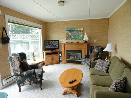 Seaside Cottage:                   Living room of the white cottage