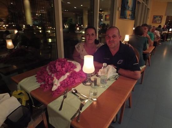 Hilton Sharks Bay Resort:                   our anniversary dinner