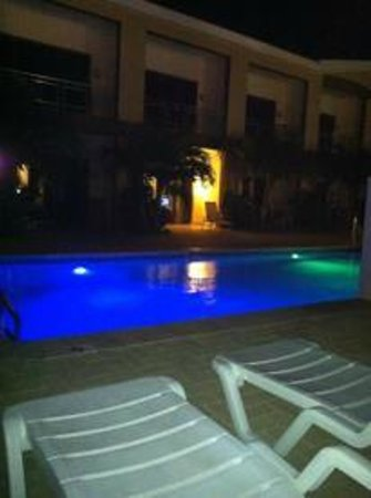 Aruba Breeze Condominium :                   One of the pools at night