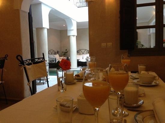 Riad Al Badia:                   colazione